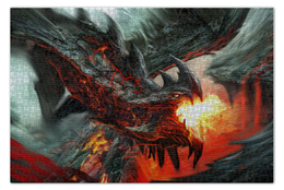 """Пазл 73.5 x 48.8 (1000 элементов) """"Дракон"""" - дракон, dragon, фэнтези"""