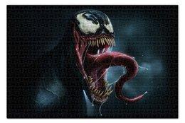 """Пазл 73.5 x 48.8 (1000 элементов) """"Веном (Venom)"""" - комиксы, spider man, марвел, человек-паук, симбиот"""