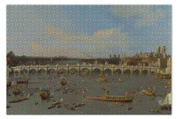 """Пазл 73.5 x 48.8 (1000 элементов) """"Вестминстерский мост в Лондоне"""" - картина, каналь"""