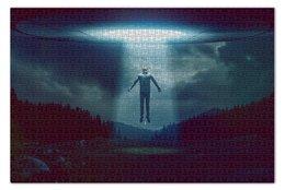 """Пазл 73.5 x 48.8 (1000 элементов) """"Ufo  """" - нло, похищение, уфо, неопознанный летающий объект"""