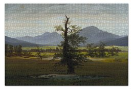 """Пазл 73.5 x 48.8 (1000 элементов) """"Одинокое дерево (Каспар Давид Фридрих)"""" - картина, фридрих"""
