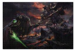 """Пазл 73.5 x 48.8 (1000 элементов) """"Zeratul vs Orc"""" - орк, близзард, хотс, зератул, heroes of the storm"""