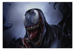 "Пазл 73.5 x 48.8 (1000 элементов) ""Веном (Venom)"" - комиксы, venom, марвел, веном, симбиот"