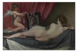 """Пазл 73.5 x 48.8 (1000 элементов) """"Венера с зеркалом (картина Веласкеса)"""" - картина, веласкес"""