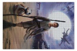 """Пазл 73.5 x 48.8 (1000 элементов) """"Звездные войны - Рей"""" - кино, фантастика, star wars, звездные войны, дарт вейдер"""