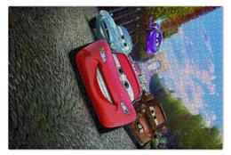 """Пазл 73.5 x 48.8 (1000 элементов) """"Тачки"""" - мультфильм, дисней, машина, тачки, молния"""