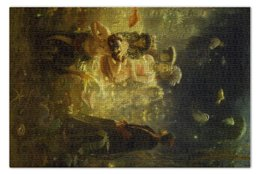 "Пазл 73.5 x 48.8 (1000 элементов) ""Садко (картина Репина)"" - картина, репин"
