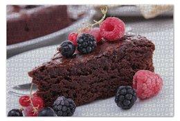 """Пазл 73.5 x 48.8 (1000 элементов) """"Sweet dessert"""" - шоколад, малина, ежевика, клюква"""