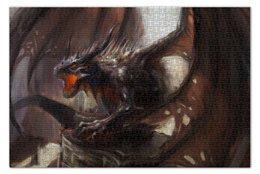 """Пазл 73.5 x 48.8 (1000 элементов) """"Дракон"""" - крылья, dragon, средневековье"""