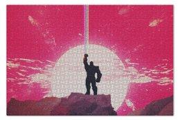 """Пазл 73.5 x 48.8 (1000 элементов) """"Танос"""" - comics, комиксы, мстители, марвел, thanos"""
