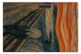 "Пазл 73.5 x 48.8 (1000 элементов) ""Крик (картина Мунка)"" - картина, мунк"