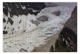 "Пазл 73.5 x 48.8 (1000 элементов) ""Альпы (Левитан)"" - картина, горы, левитан"