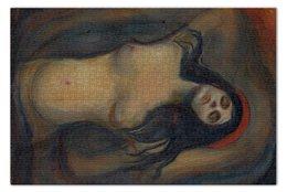 """Пазл 73.5 x 48.8 (1000 элементов) """"Мадонна (картина Мунка)"""" - картина, мунк"""