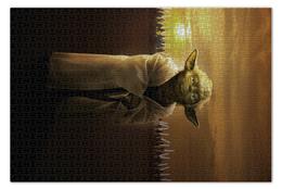 """Пазл 73.5 x 48.8 (1000 элементов) """"Звездные войны - Йода"""" - фантастика, star wars, звездные войны, йода, дарт вейдер"""