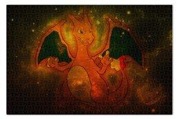 "Пазл 73.5 x 48.8 (1000 элементов) ""Чаризард"" - чармандер, pokemon go, покемон го, чармелеон, charizard"