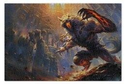 """Пазл 73.5 x 48.8 (1000 элементов) """"Werewolf"""" - руины, moba, smite, смайт, ruins"""