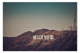 "Пазл 73.5 x 48.8 (1000 элементов) ""Hollywood"" - california, калифорния, голливуд, лос-анджелес, lon angeles"