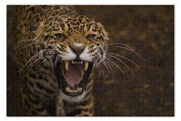 """Пазл 73.5 x 48.8 (1000 элементов) """"Ягуар"""" - животные, оскал, ягуар, jaguar"""