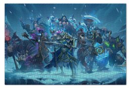 """Пазл 73.5 x 48.8 (1000 элементов) """"Knights Of The Frozen Throne"""" - монстры, лед, рыцари, трон, knights frozen throne"""