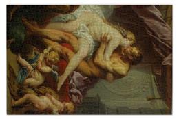 """Пазл 73.5 x 48.8 (1000 элементов) """"Геркулес и Омфала (Франсуа Буше )"""" - картина, франсуа буше"""