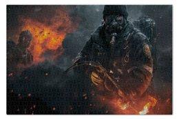 """Пазл 73.5 x 48.8 (1000 элементов) """"Warfare"""" - война, огонь, человек, военный, огнемет"""