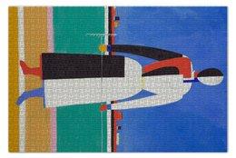 "Пазл 73.5 x 48.8 (1000 элементов) ""Женщина с граблями (картина Малевича)"" - картина, живопись, супрематизм, абстракционизм, малевич"