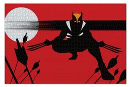 "Пазл 73.5 x 48.8 (1000 элементов) ""Росомаха"" - комиксы, росомаха, марвел, wolverine, логан"
