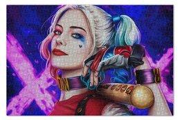 """Пазл 73.5 x 48.8 (1000 элементов) """"Harley Quinn"""" - мультфильм, комиксы, харли квинн"""