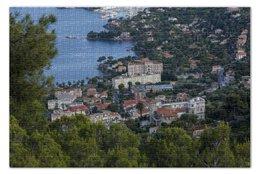 """Пазл 73.5 x 48.8 (1000 элементов) """"Ницца"""" - море, франция, вид, высота, ницца"""