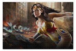 "Пазл 73.5 x 48.8 (1000 элементов) ""Чудо-Женщина (Wonder Woman)"" - комиксы, dc, dc comics, чудо-женщина, wonder woman"