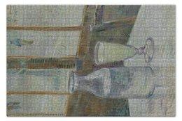 """Пазл 73.5 x 48.8 (1000 элементов) """"Кафейный столик с абсентом (Винсент Ван Гог)"""" - картина, ван гог, живопись"""