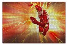 "Пазл 73.5 x 48.8 (1000 элементов) ""Флэш (Flash)"" - flash, комиксы, dc comics, флэш"