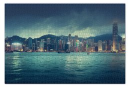 """Пазл 73.5 x 48.8 (1000 элементов) """"Гонконг"""" - море, горизонт, китай, china, hong-kong"""