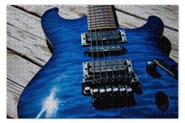 """Пазл 73.5 x 48.8 (1000 элементов) """"Гитара"""" - guitar, дерево, струны"""