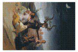 "Пазл 73.5 x 48.8 (1000 элементов) ""Шабаш ведьм (Франсиско Гойя)"" - картина, гойя"