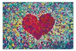 """Пазл 73.5 x 48.8 (1000 элементов) """"Pixel heart"""" - сердце, любовь, абстракция, пиксель"""