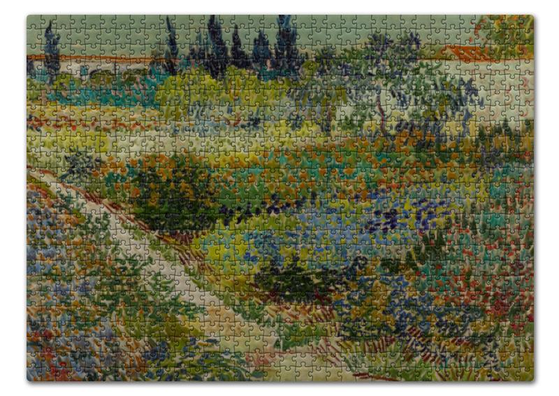 торт printio цветущий сад винсент ван гог Пазл 43.5 x 31.4 (408 элементов) Printio Цветущий сад с тропинкой (винсент ван гог)