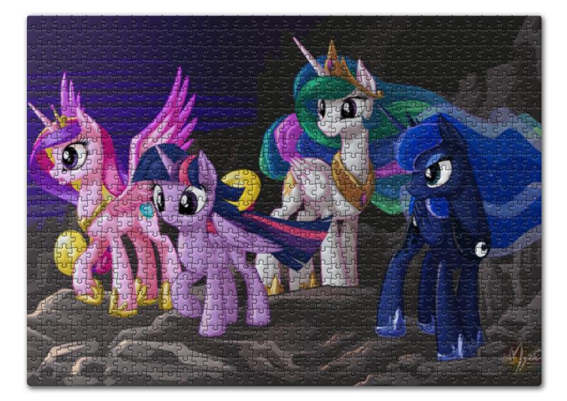 Пазл 43.5 x 31.4 (408 элементов) Printio Четыре принцессы