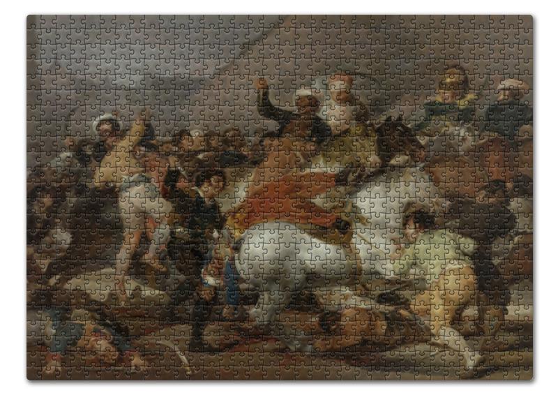 Пазл 43.5 x 31.4 (408 элементов) Printio Восстание 2 мая 1808 года в мадриде (гойя) цена