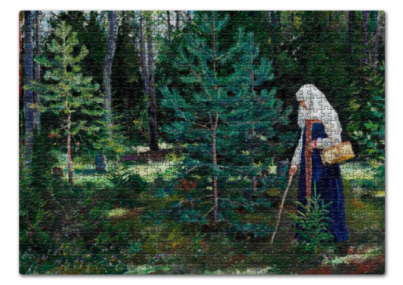 Пазл 43.5 x 31.4 (408 элементов) Printio В лес за грибами (сергей виноградов) футболка print bar за грибами в лес