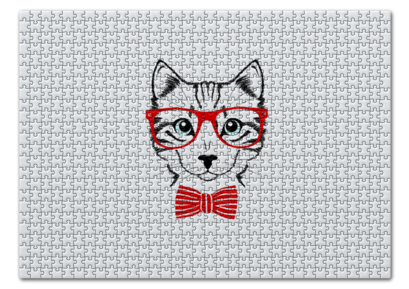 Пазл 43.5 x 31.4 (408 элементов) Printio Кошка андрей дашков домашнее животное