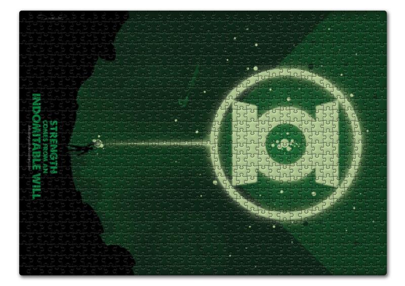 Пазл 43.5 x 31.4 (408 элементов) Printio Green lantern/зеленый фонарь ретушь filler 408 green 2 кг