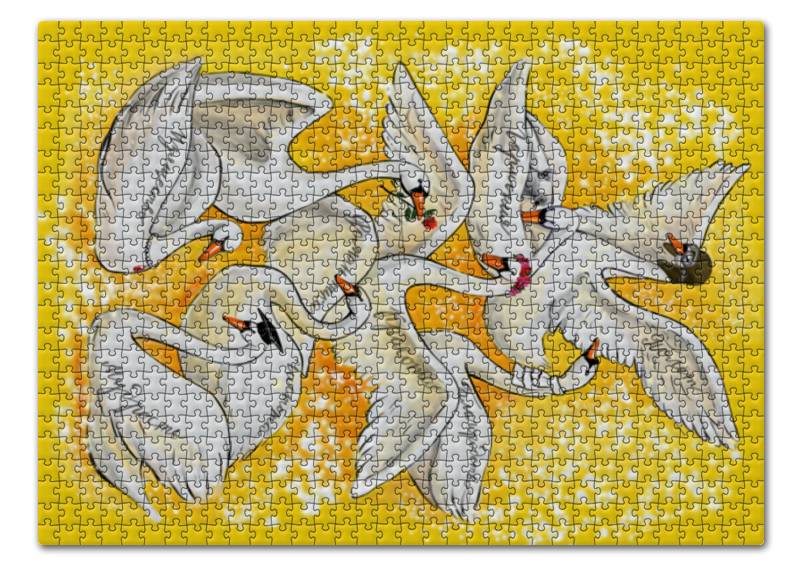 Printio 8 лебедей - средний пазл 73 5 x 48 8 1000 элементов printio остров