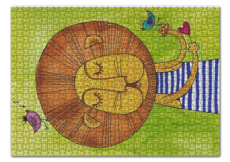Пазл 43.5 x 31.4 (408 элементов) Printio Лев бонифаций в тельняжке чехол для samsung galaxy s5 printio лев бонифаций в тельняжке