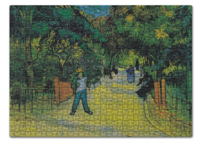 цена Пазл 43.5 x 31.4 (408 элементов) Printio Вход в общественный парк в арле (винсент ван гог)