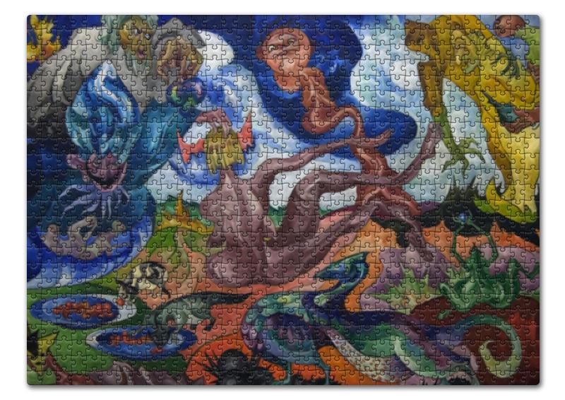 Пазл 43.5 x 31.4 (408 элементов) Printio Создание мира (станислав виткевич) лем станислав непобедимый