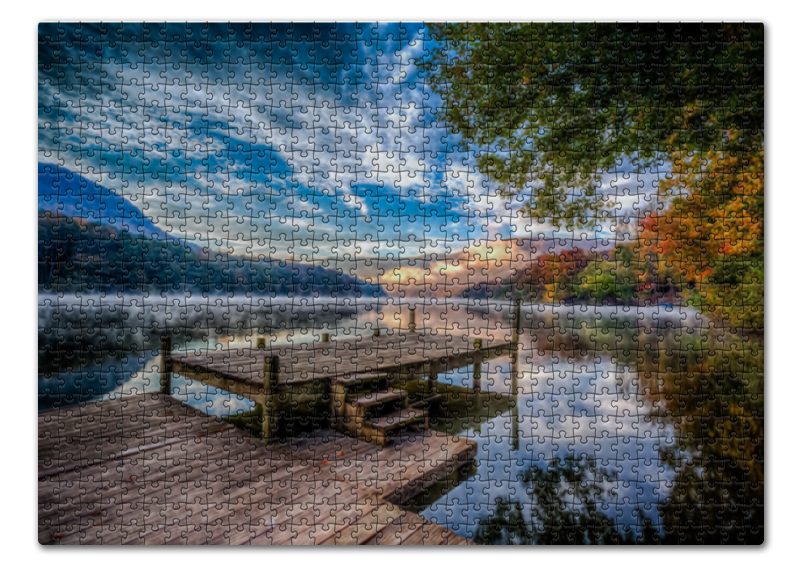 Пазл 43.5 x 31.4 (408 элементов) Printio Природа у озера