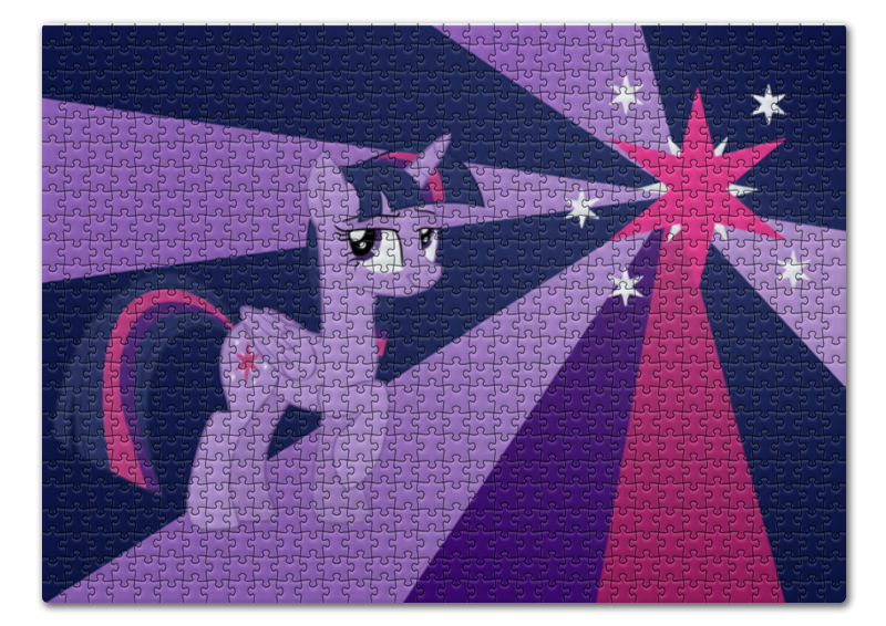Пазл 43.5 x 31.4 (408 элементов) Printio Twilight sparkle color line