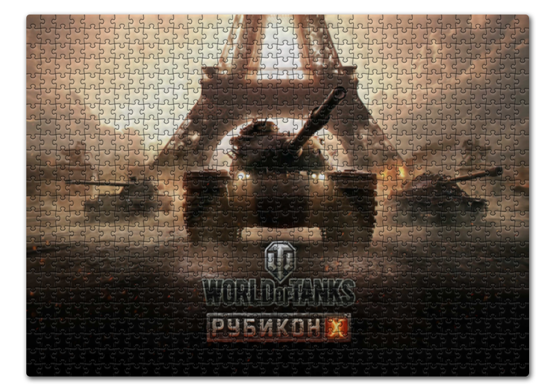 Пазл 43.5 x 31.4 (408 элементов) Printio World of tanks пазл step puzzle world of tanks 160 элементов 94031