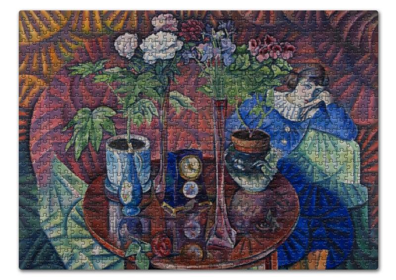 Пазл 43.5 x 31.4 (408 элементов) Printio Кузина с цветами (владимир баранов-россине) виталий баранов сбоевого задания не